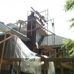 Fixing the masonry on a chimney